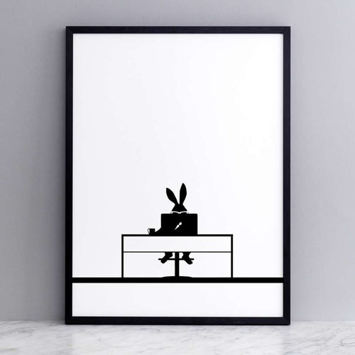 HAM - Working Rabbit Print