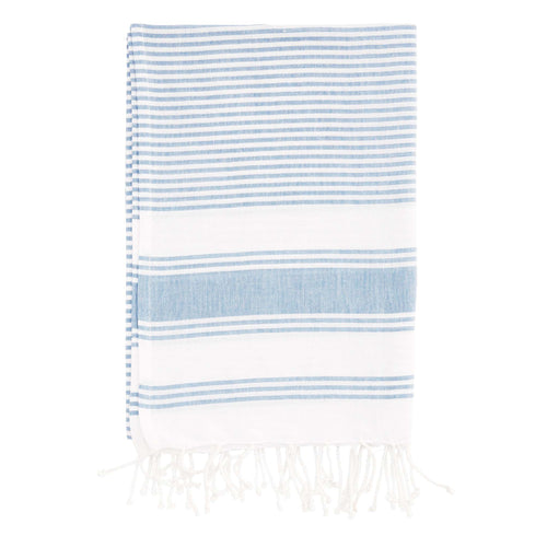 hammam towel cotton striped blue and white towel