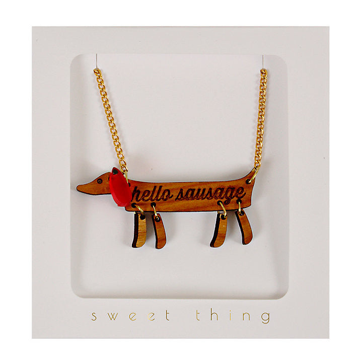 hello sausage necklace