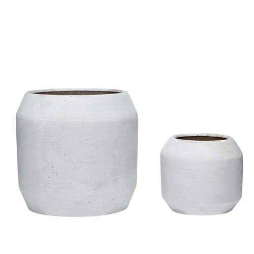 Hubsch - Taper Top and Base Plant Pot - Light Grey