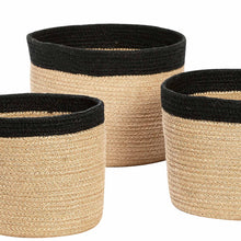 Hubsch - Woven Jute Basket with black band
