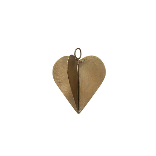 hubsch christmas Heart brass small