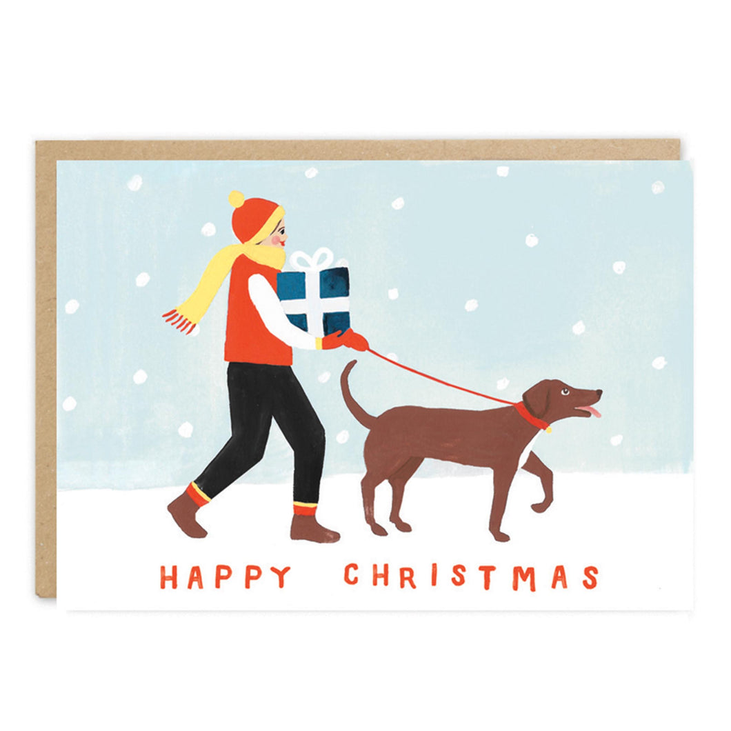 jade fisher christmas card dog presents