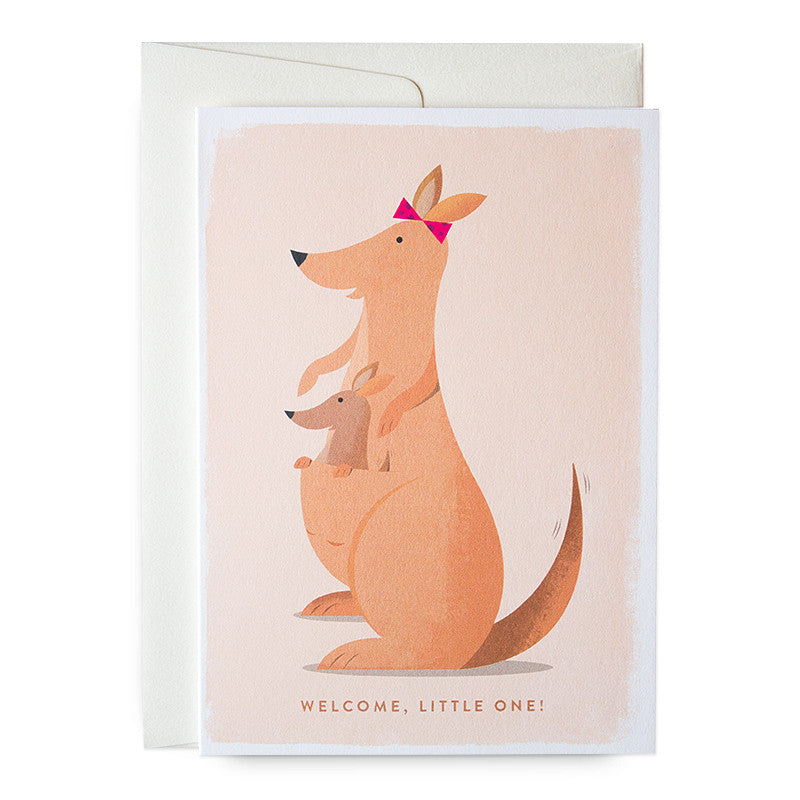 Duke & Rabbit - Kangaroo Welcome, Little One Card