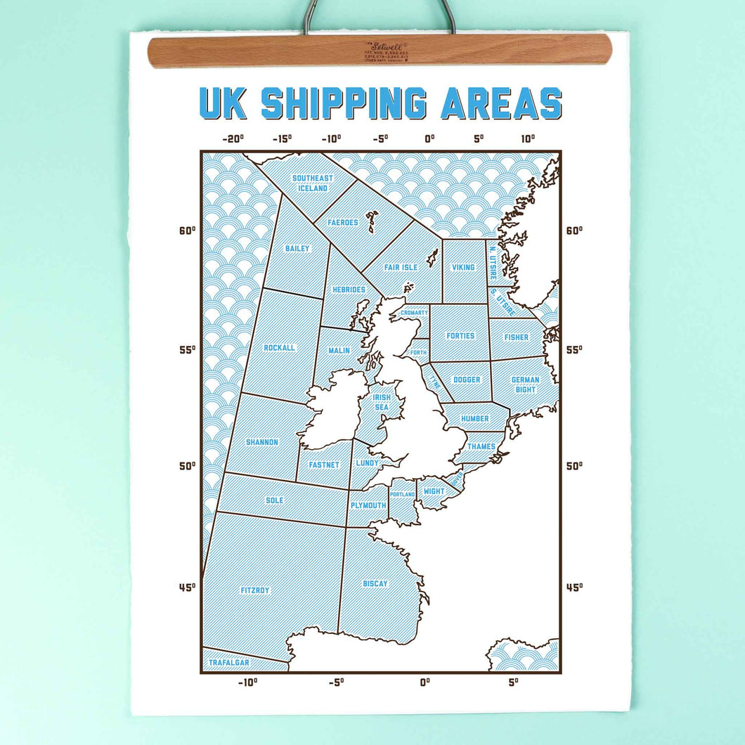 kate and the ink uk shipping areas print A2