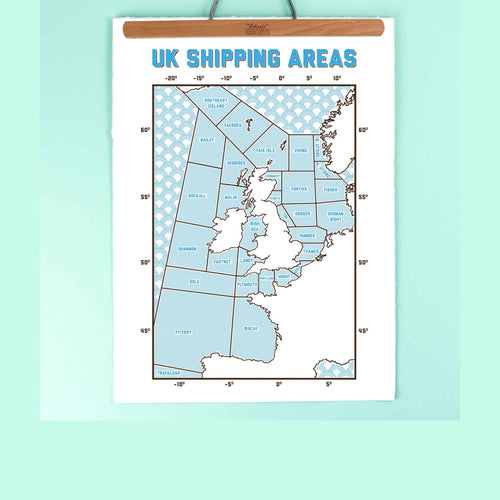 kate and the ink uk shipping areas print A3