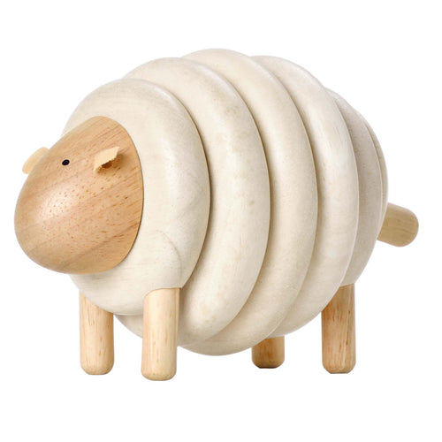 lacing sheep wooden toy