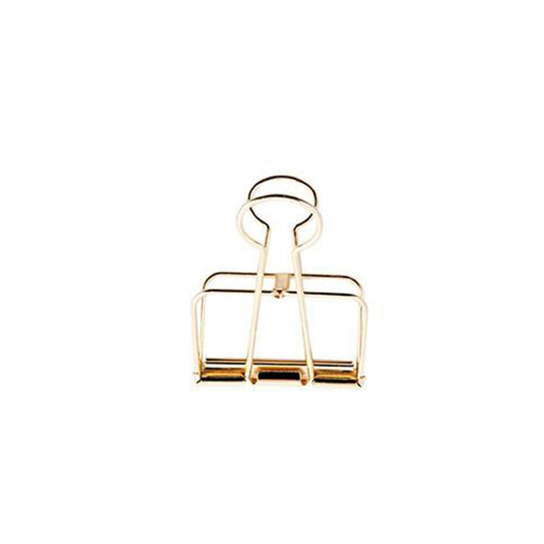 large gold wire bulldog clip