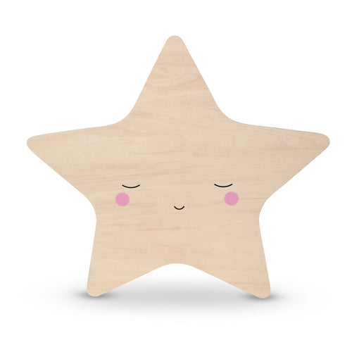 Teeny & Tiny - Wooden Wall Star Tap Light - Medium