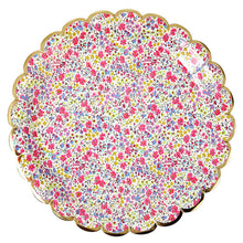 liberty floral print paper plate pink