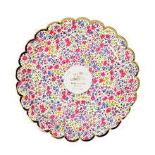 liberty floral print paper plates small