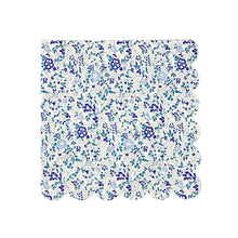 liberty floral print small napkin blue