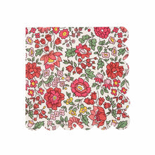 liberty floral print small napkin red