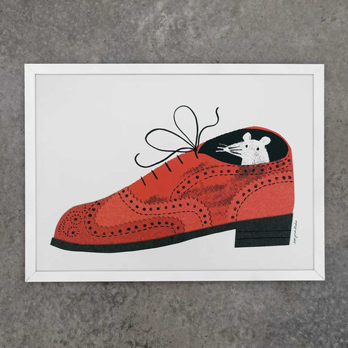 lisa jones studio mouse brogue print