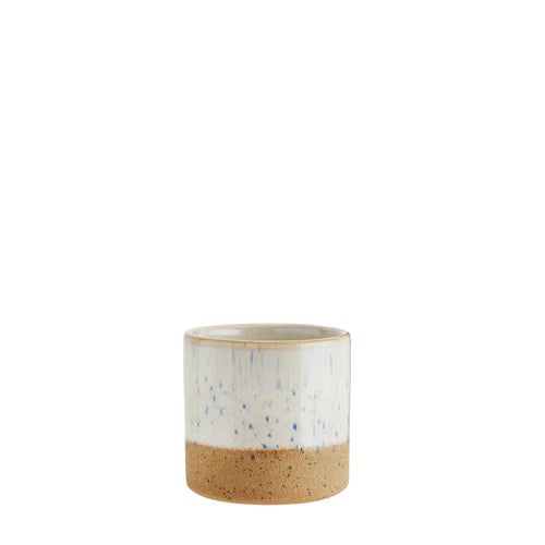 Madam Stoltz - Two Tone Flower Pot - Off-White and Sand - Mini