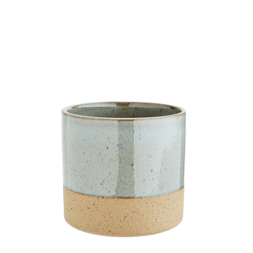 Madam Stoltz - Two Tone Flower Pot - Grey and Sand