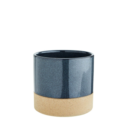 Madam Stoltz - Two Tone Flower Pot - Navy and Sand