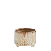 Madam Stoltz - Straight Sided Flower Pot with Face Imprint - Beige - Short