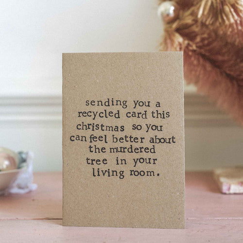 made by Shannon - Recycled Christmas Card