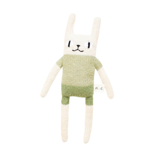 main sauvage Rabbit Knitted Soft Toy - Green