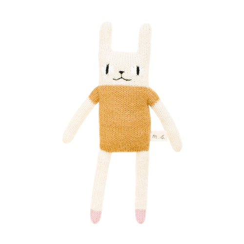 main sauvage Rabbit Knitted Soft Toy - mustard
