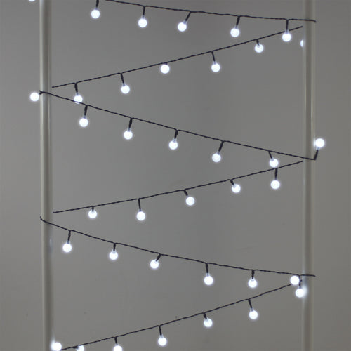 marble round white fairy lights