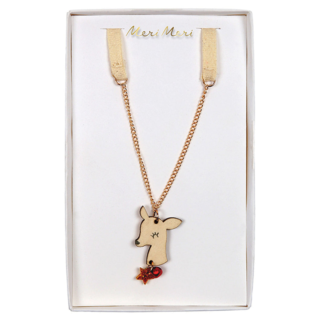 meri meri christmas reindeer necklace