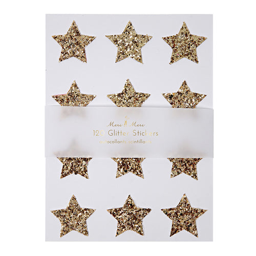meri meri chunky glitter star stickers gold