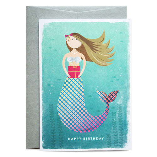 Duke & Rabbit - Mermaid Present Card