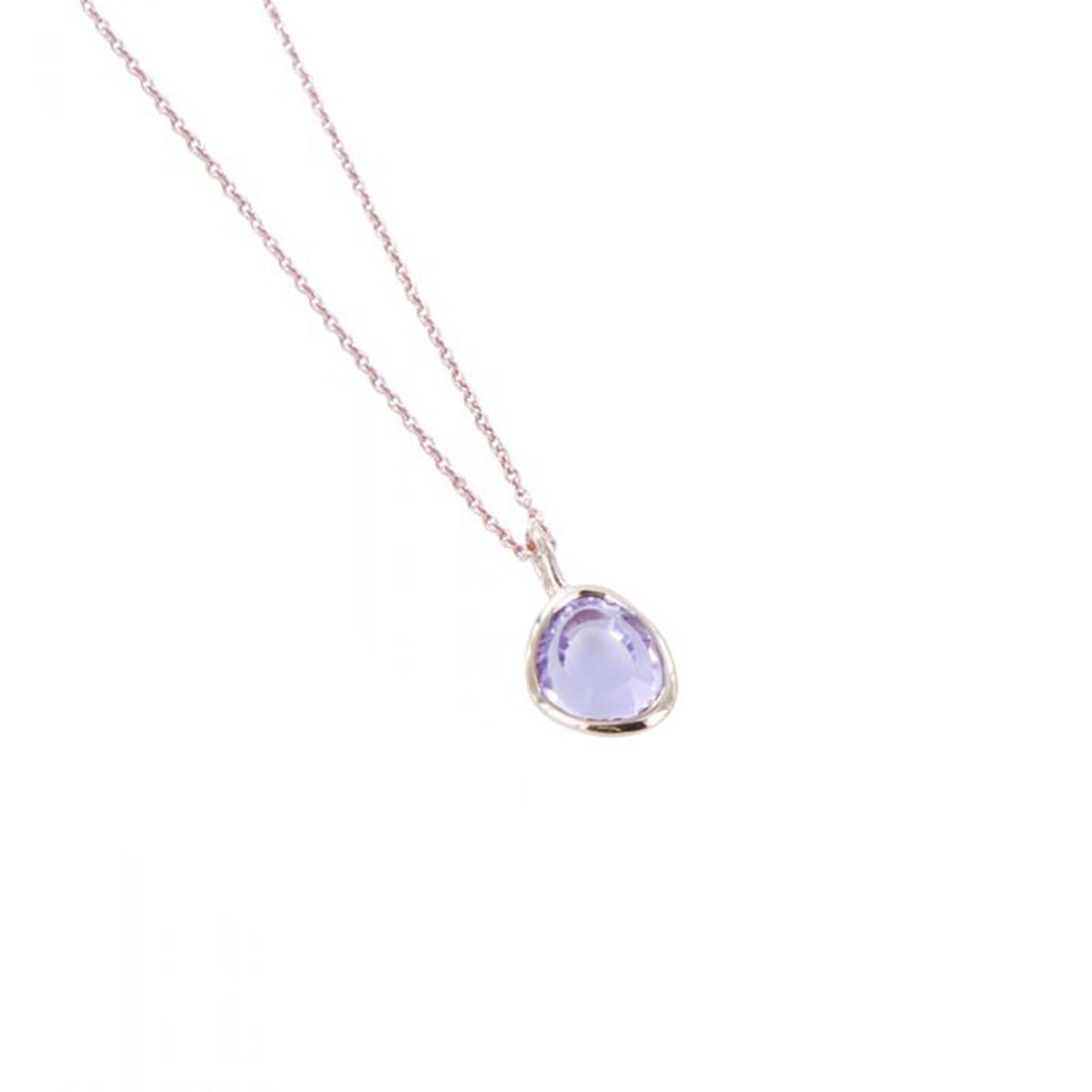 midas rose gold amethyst necklace