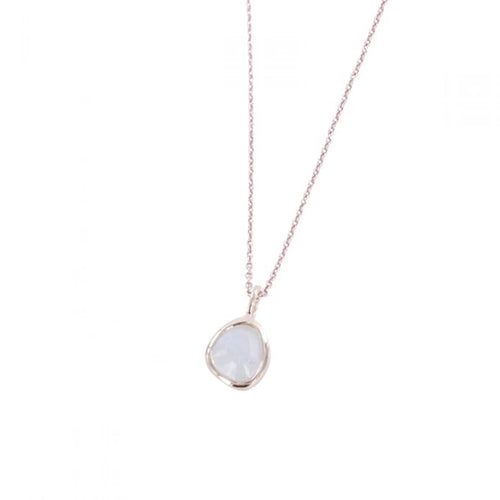 midas rose gold moonstone necklace