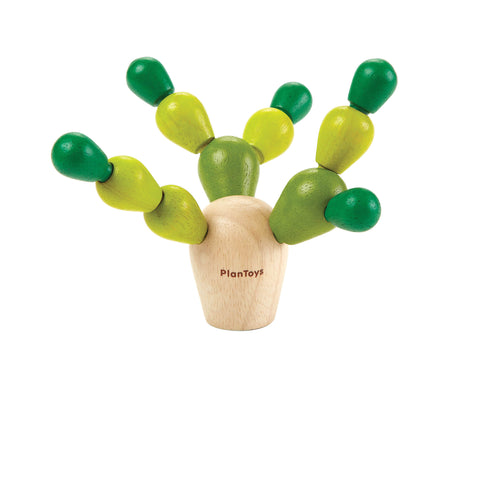 mini balacing cactus wooden toy complete