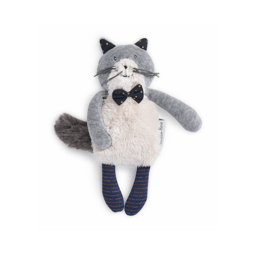 Moulin Roty - Fernand the small light grey cat Les Moustaches