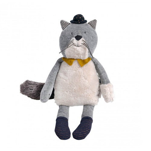 Moulin Roty - Les Moustaches - Fernand, light grey cat