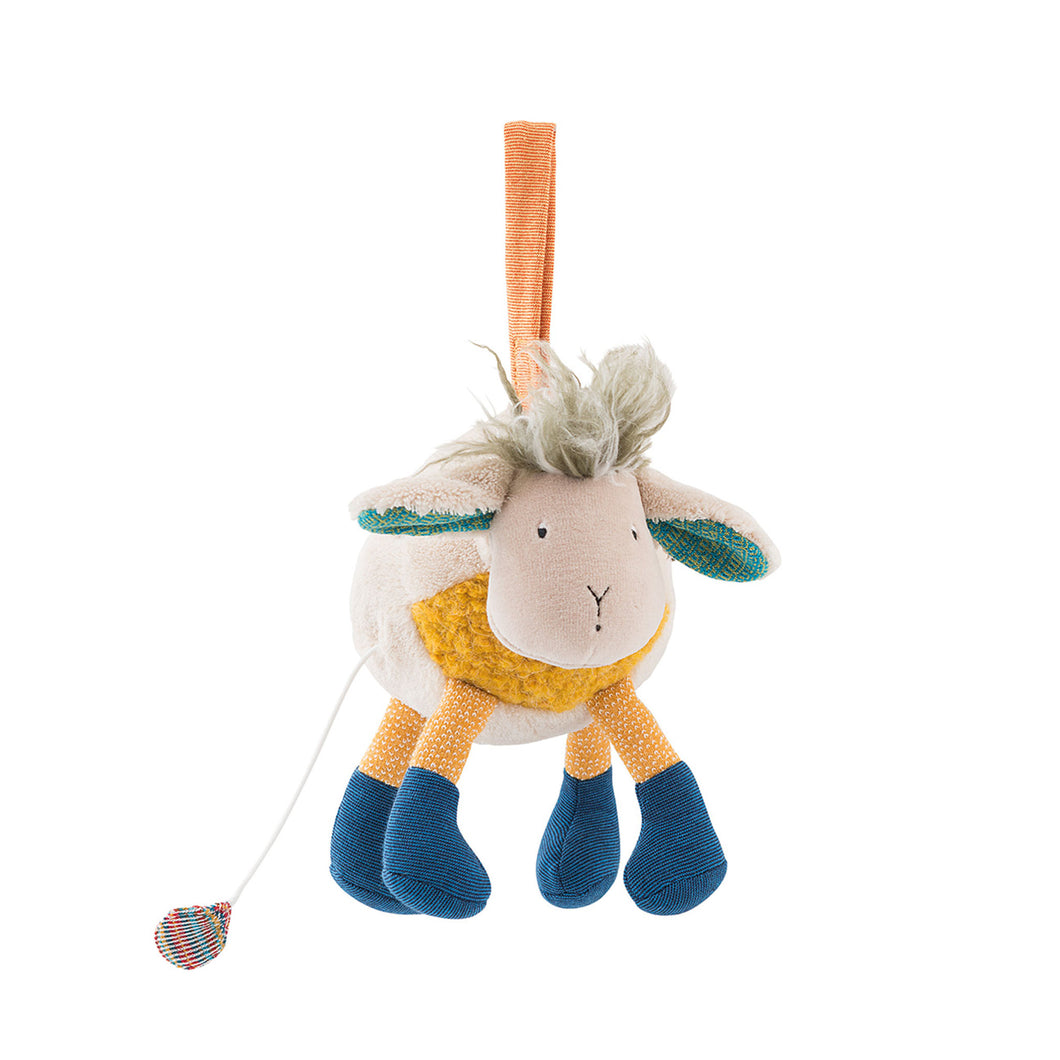 moulin roty musical sheep soft toy