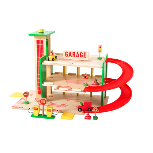 moulin roty wooden garage toy