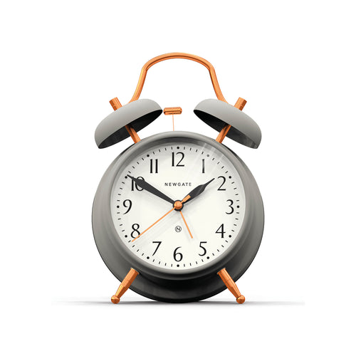 newgate Brick Lane Alarm Clock - Grey Copper