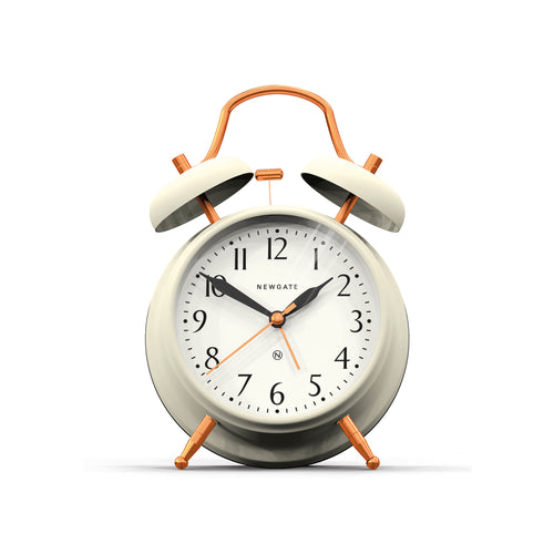newgate Brick Lane Alarm Clock - Linen White Copper