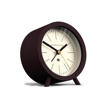 newgate Fred Alarm Clock - Chocolate Black - Reverse Dial angle