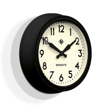 newgate electric black and white wall clock