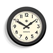 newgate electric black and white wall clock front