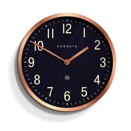 newgate master edwards navy and copper wall clock
