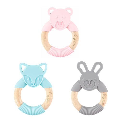Nibbling - Forest Friends Teething Ring