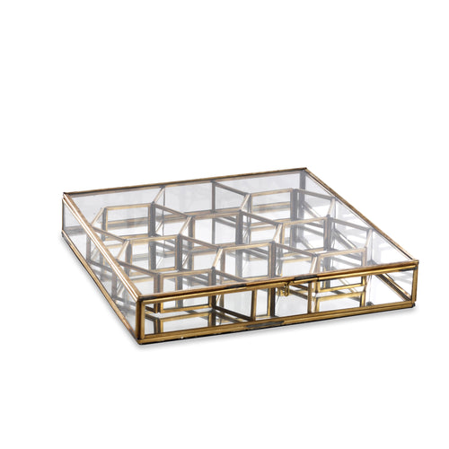 nkuku - Bequai Honeycomb Box - Antique Brass - Large