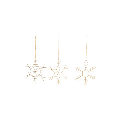 nkuku - Dagari Decorations - Brass - Set of 3 - Small