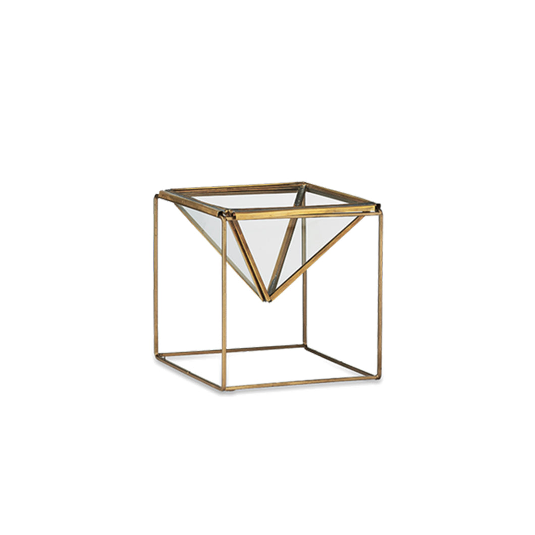 nkuku - Karana Planter On Stand - Antique Brass