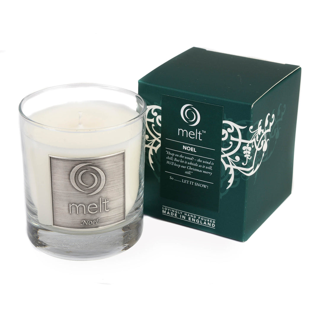noel scented luxury glass jar candle by melt
