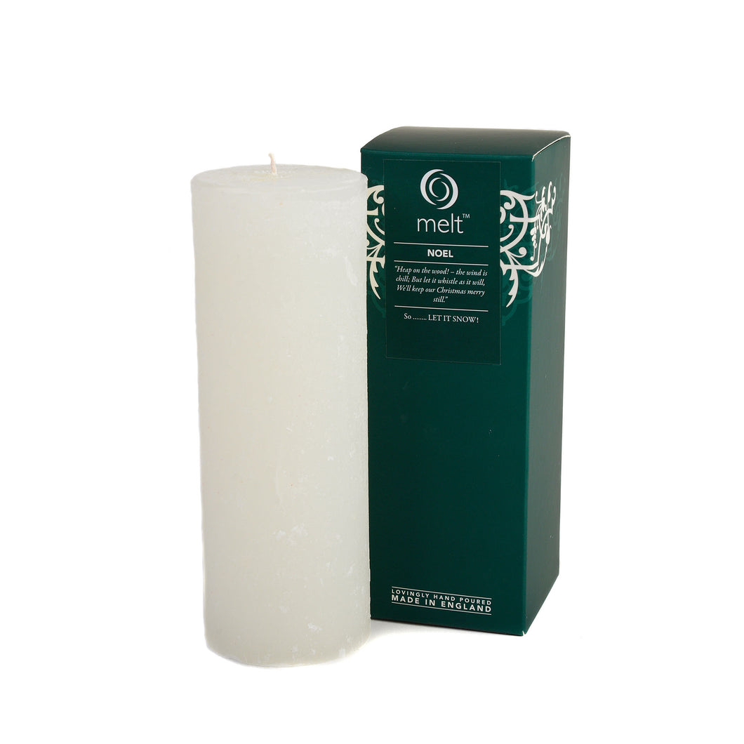 noel scented tall thin pillar candle by melt