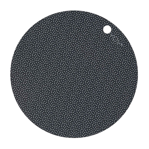 OYOY - Placemats Dark Grey Dots - pair