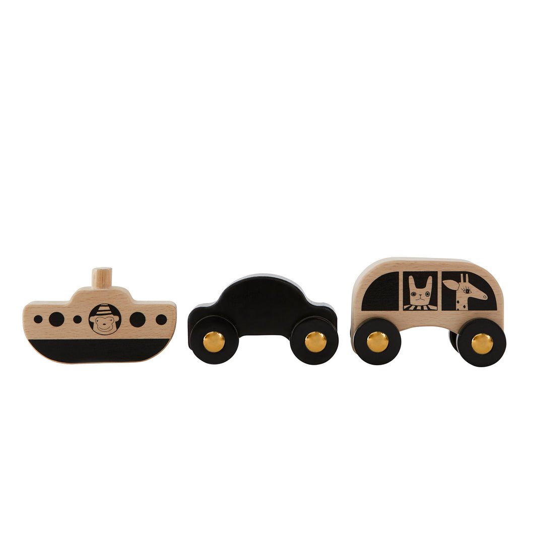 OYOY - No Rush Wooden Car, Bus  and Boat